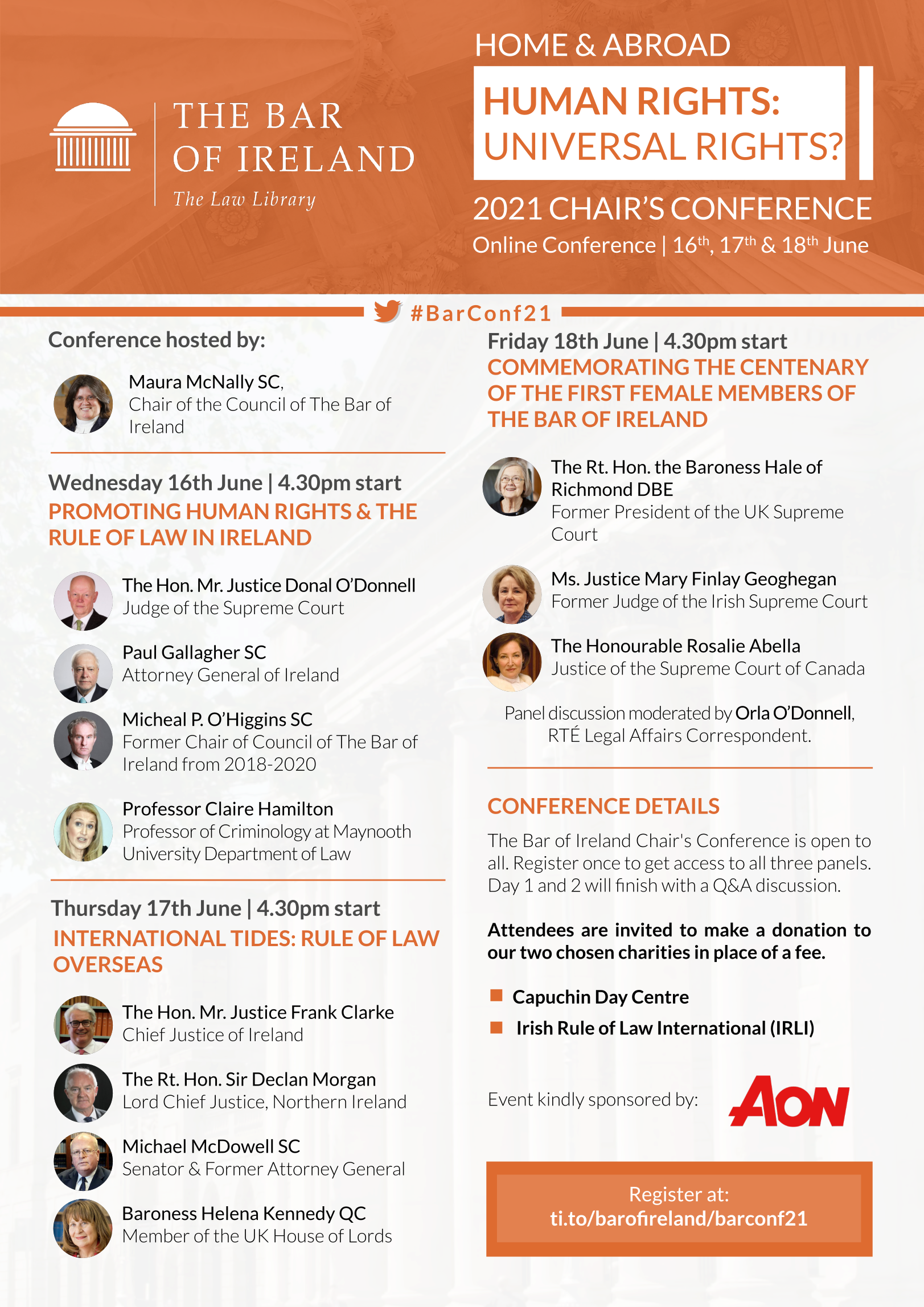 2021 Chair's Conference Programme